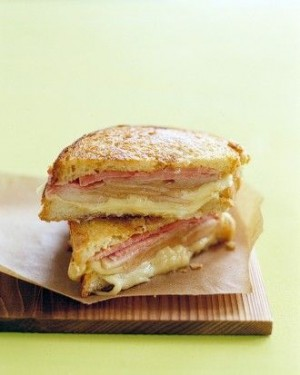 Grilled Ham & Cheese with Pears