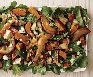 Warm Pear & Roast Vegetable Salad